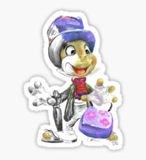 Charcoal and Oil - Jiminy Cricket Sticker