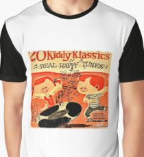 Vintage Cartoon Record Graphic T-Shirt