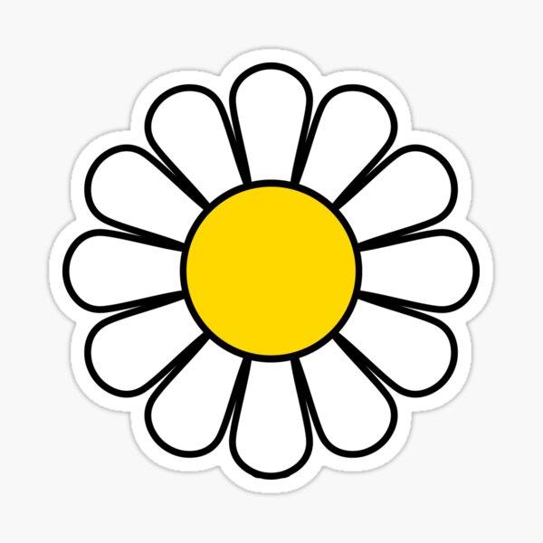 White Daisy Dress Skirt Sticker