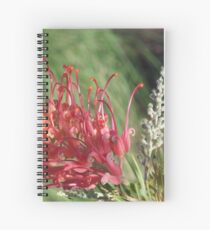 Red Blooms Los Angeles Spiral Notebook