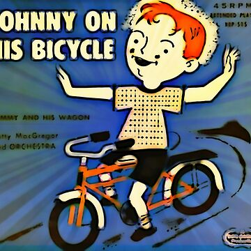 Vintage Record Johnny Bike by RecordCovers