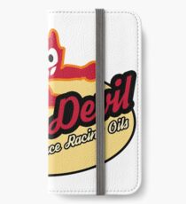 Red Devil Hot Rod logo iPhone Wallet/Case/Skin