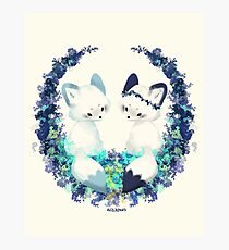 Floral Foxes Photographic Print