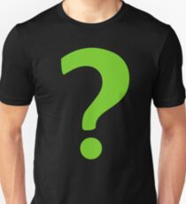 Enigma - green question mark Unisex T-Shirt