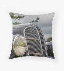 Dodge Brothers Classic Hood Ornament Throw Pillow