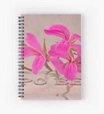 Pink Geranium Blossoms - Macro Spiral Notebook