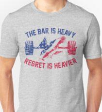 The Bar Is Heavy Regret Is Heavier - RWB Unisex T-Shirt