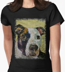 Pit Bull Portrait Women's Fitted T-Shirt