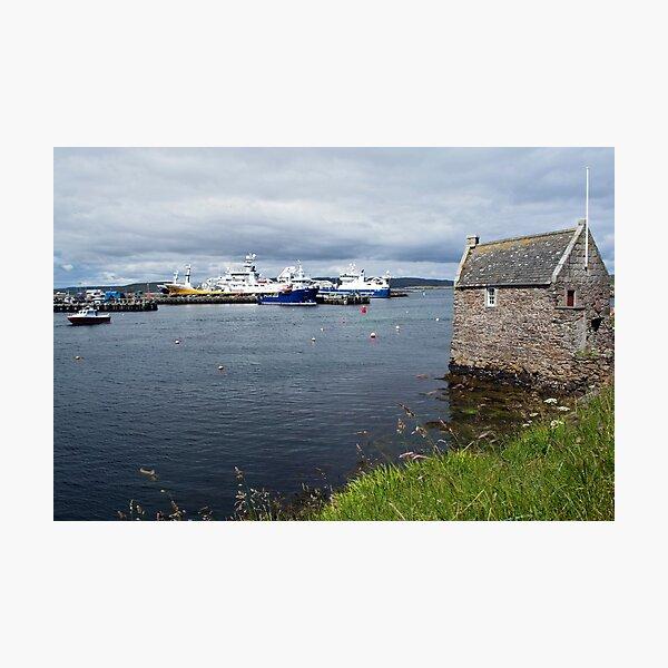 Symbister Harbour Photographic Print