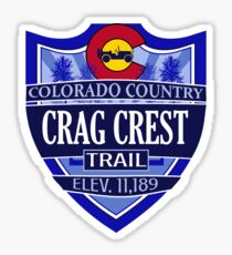 Crag Crest Trail Colorado offroad Jeep trail Sticker