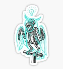 Skeleton of an Owl, with ghostly overlay Sticker