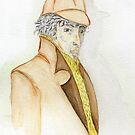 Sherlock Holmes Caricature  by Anne Gitto
