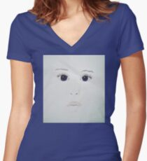 BABY BABY Women's Fitted V-Neck T-Shirt