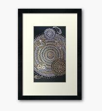 mandala yoga Framed Print