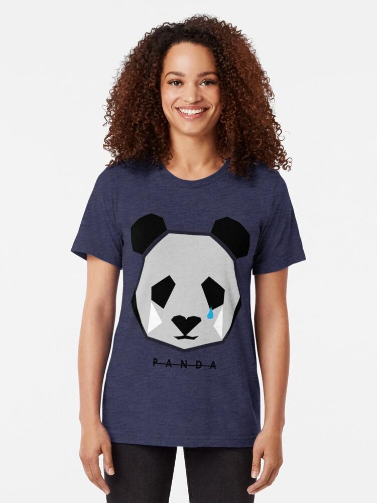 Alternate view of JACK BUCK OFFICIAL PANDA ICON MERCH Tri-blend T-Shirt