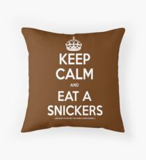 Snickers Throw Pillow