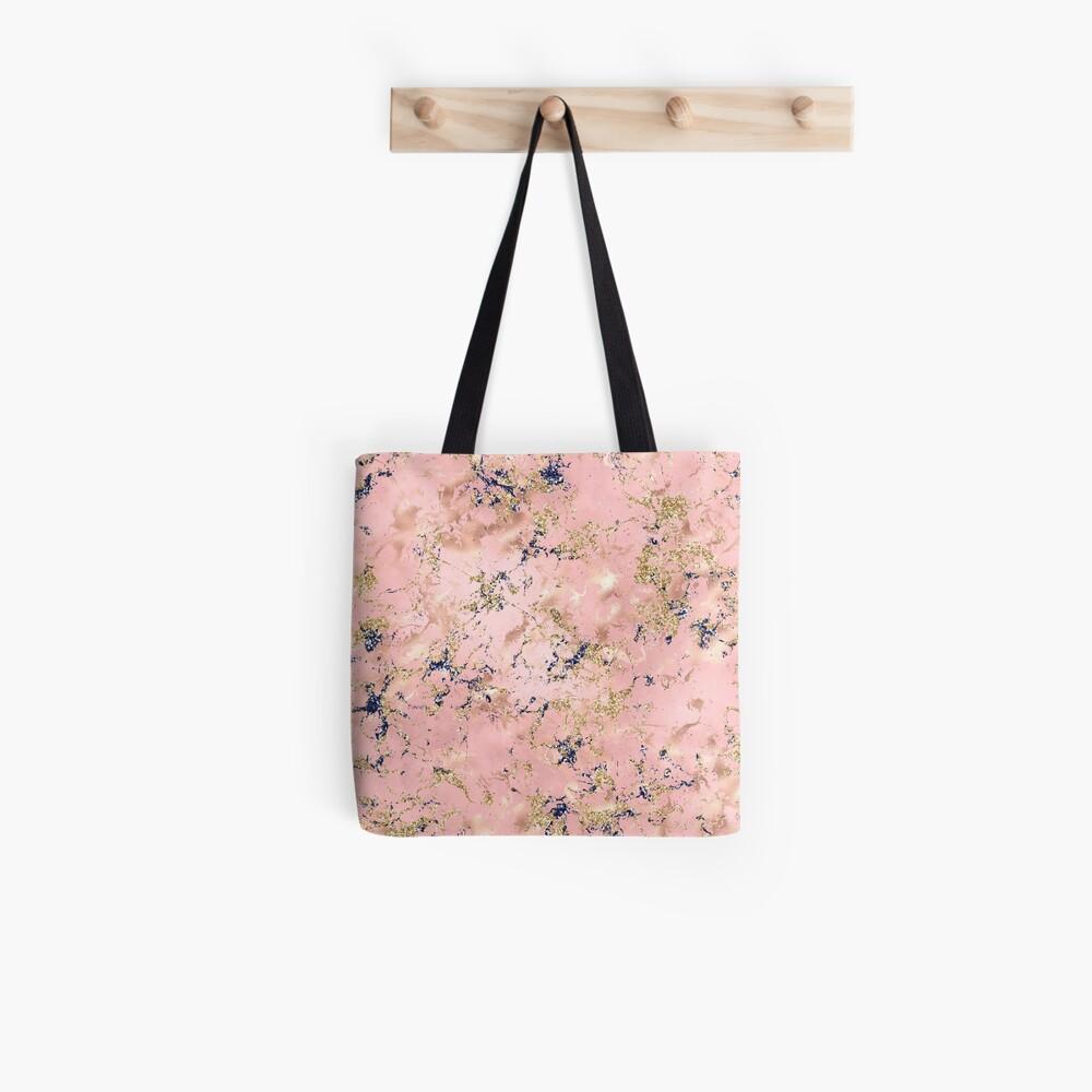 Decorative glitter on marble Tote Bag