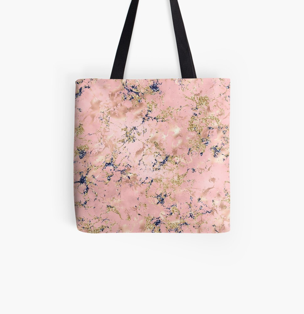 Decorative glitter on marble Tote Bag