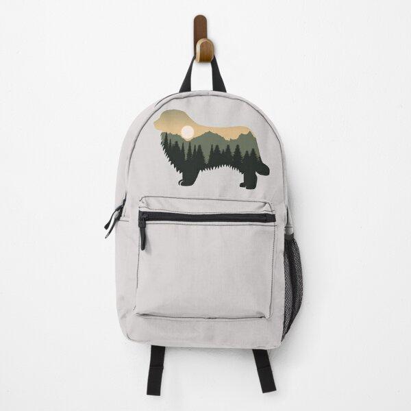 newfoundland dog forest mountain sunset gift Backpack