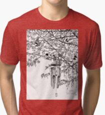 Hangin' with the Chickadees Tri-blend T-Shirt
