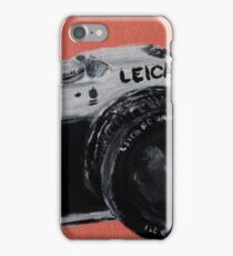 Leica Vintage Film Photography Camera Acrylic Painting iPhone Case/Skin