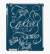 I Play Vidja Games (White) iPad Case/Skin
