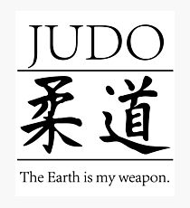 Judo; hitting your opponent with the planet. Photographic Print