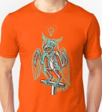 Skeleton of an Owl, with ghostly overlay Unisex T-Shirt