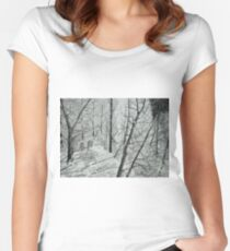 Frosty Perch (Full) Women's Fitted Scoop T-Shirt