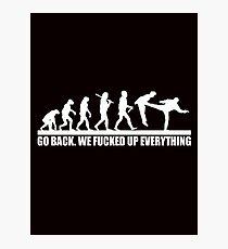 Funny Human Evolution Photographic Print