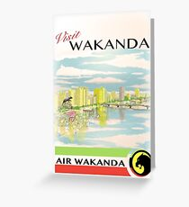 Visit Wakanda- Vintage Travel Ad Greeting Card