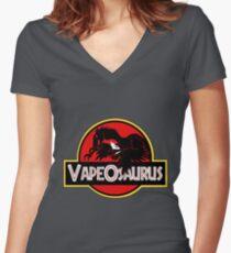 vapeosaurus Women's Fitted V-Neck T-Shirt