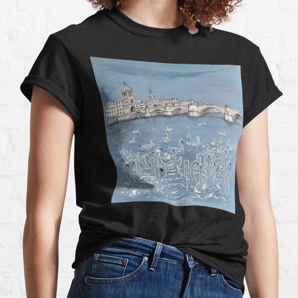 Charles Bridge - Prague (Swan Lake) Classic T-Shirt