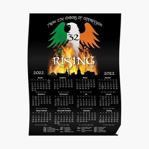 Irish Calendar 2022 Ireland as Gaeilge  Poster