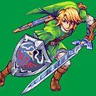 Legend of Zelda - Link Pixel Art by Eag2000
