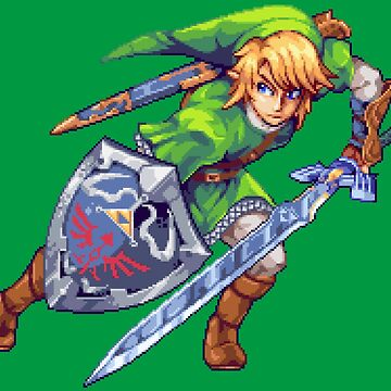 Legend of Zelda - Link Pixel Art by Eag2000