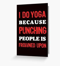 Yoga, fitness and Health Greeting Card