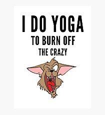 Yoga, funny Crazy Cartoon  Photographic Print