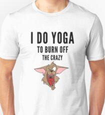 Yoga, funny Crazy Cartoon  Unisex T-Shirt