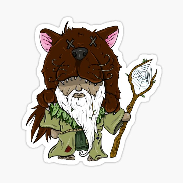 Druid Character Comic Style Sticker