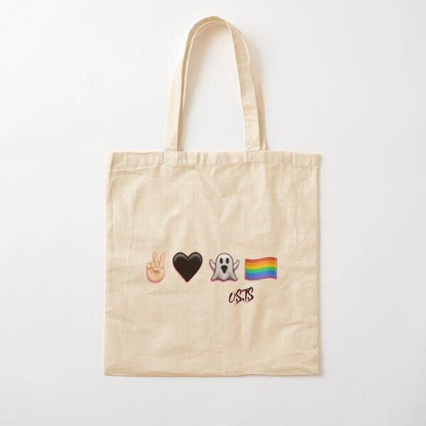 Peace, Love, Ghost, & Pride Cotton Tote Bag