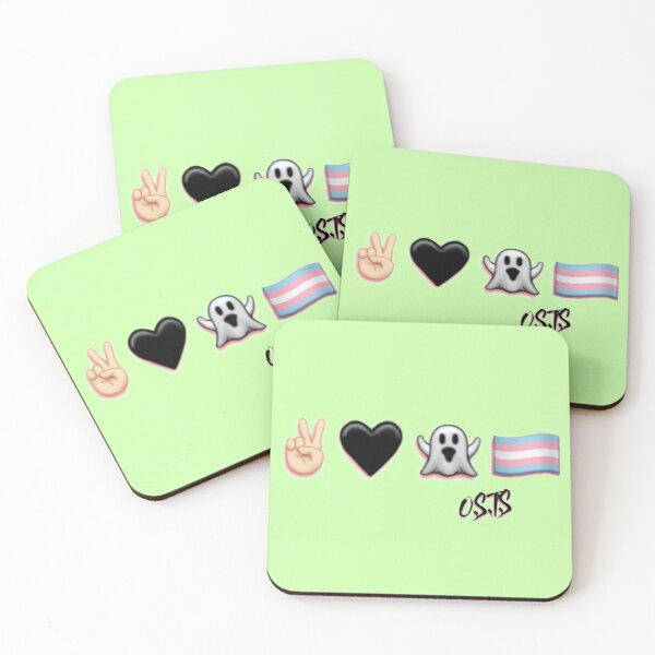 Peace, Love, Ghost, & Trans Pride Coasters (Set of 4)