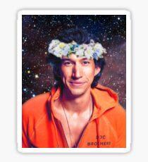Adam Driver Flower Crown Galaxy Sticker