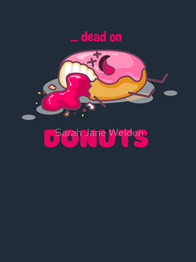 Pastel Pink Dead on Doughnuts Coffee Shop Cozy Murder Mystery Cute Kawaii Donut by SarahRowsSolo