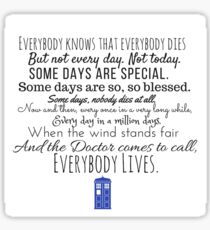 Doctor Who River Song Quote Sticker