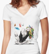 Delirium The Sandman Vertigo Comics Women's Fitted V-Neck T-Shirt