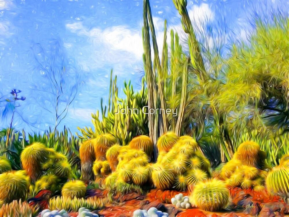 Desert Garden After Van Gogh by John Corney