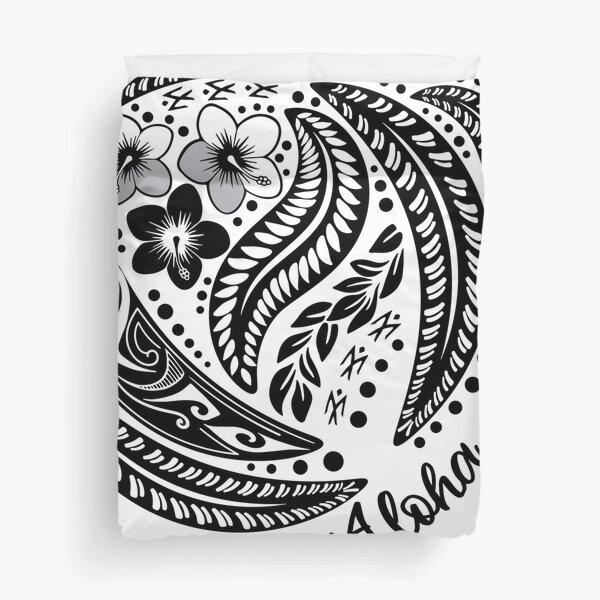 Lahaina Summer Poynesian Tribal  Duvet Cover
