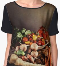 ~ Still Life with Vegetables ~ Women's Chiffon Top