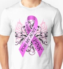 I Wear Pink For My Aunt (w) Unisex T-Shirt